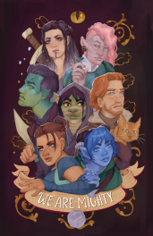 The Mighty Nein of Critical Role Fame.