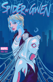 Variant cover mockup for issue #15 of Spider Gwen